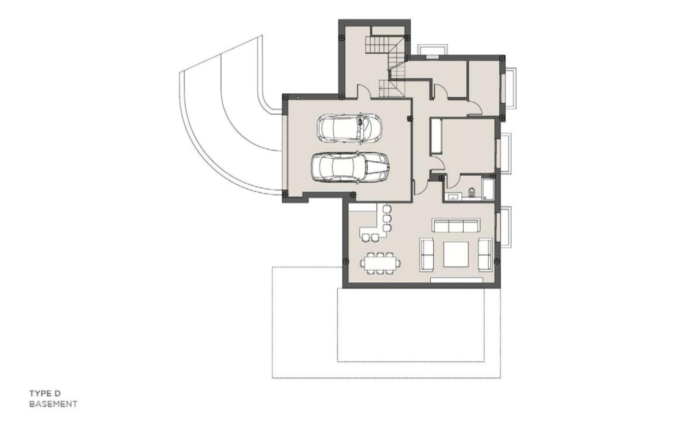 los olivos del paraiso benahavis moderne nieuwbouw villa te koop grondplan type d kelder