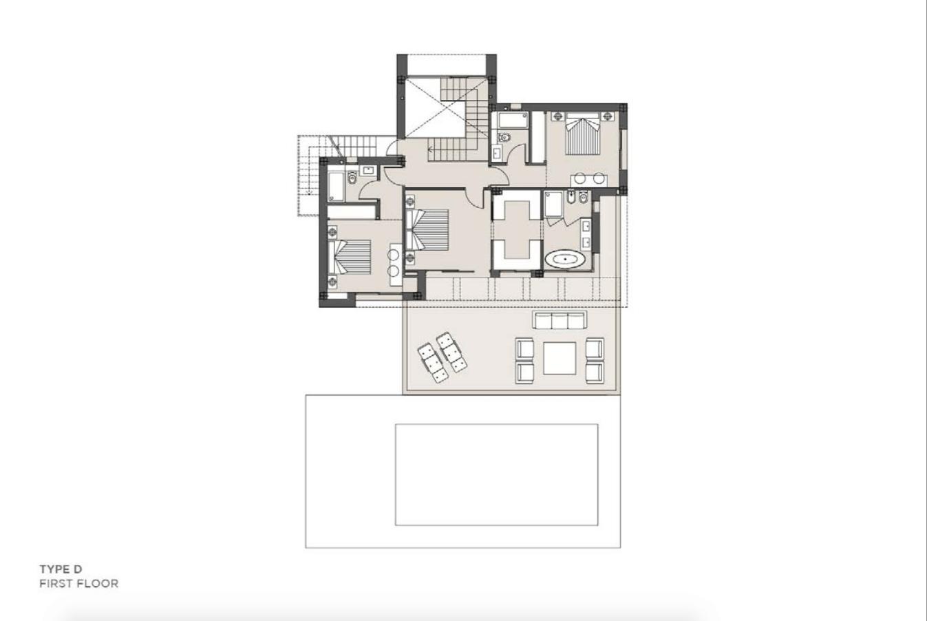 los olivos del paraiso benahavis moderne nieuwbouw villa te koop grondplan type d verdieping