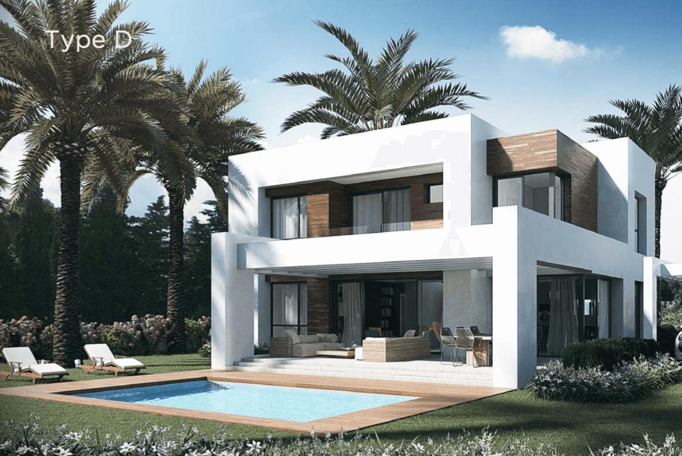 los olivos del paraiso benahavis moderne nieuwbouw villa te koop grondplan type d