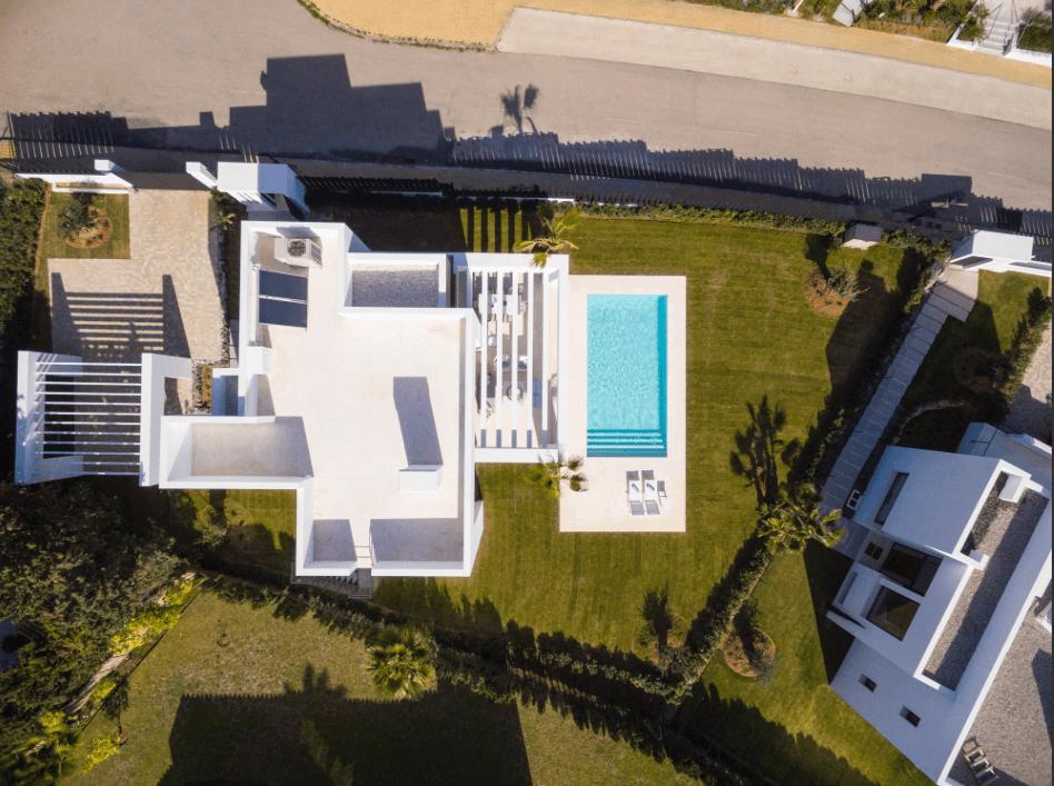 los olivos del paraiso benahavis moderne nieuwbouw villa te koop grondplan