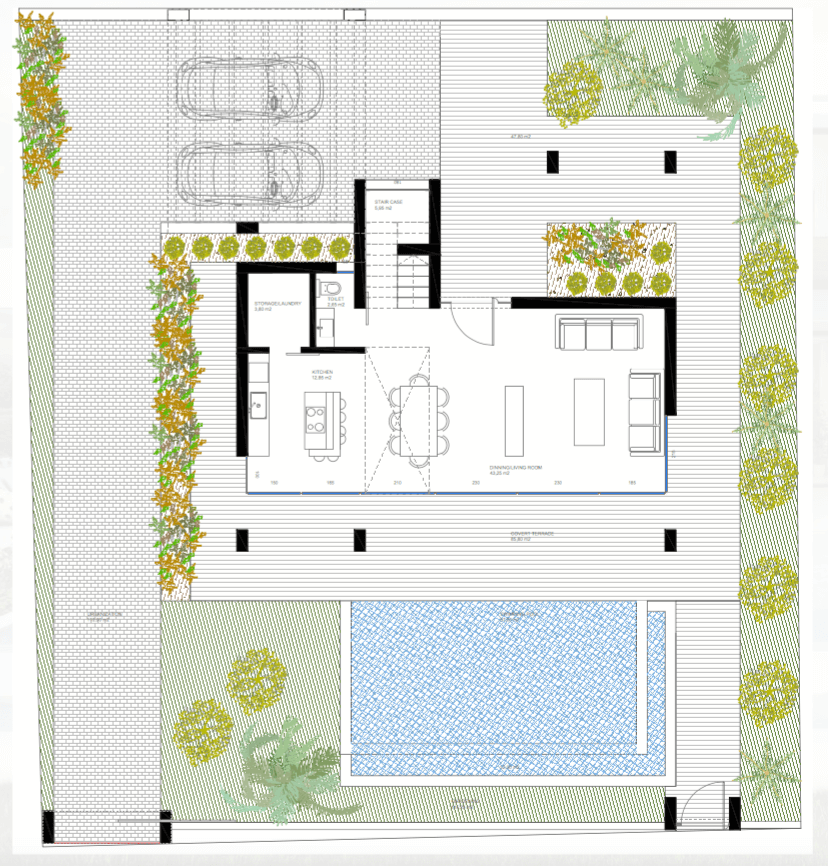 nieuwbouw villa te koop linda vista san pedro marbella grondplan masterplan