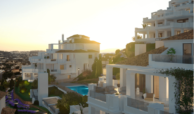 nine lions residences appartementen penthouses te koop nueva andalucia gevel