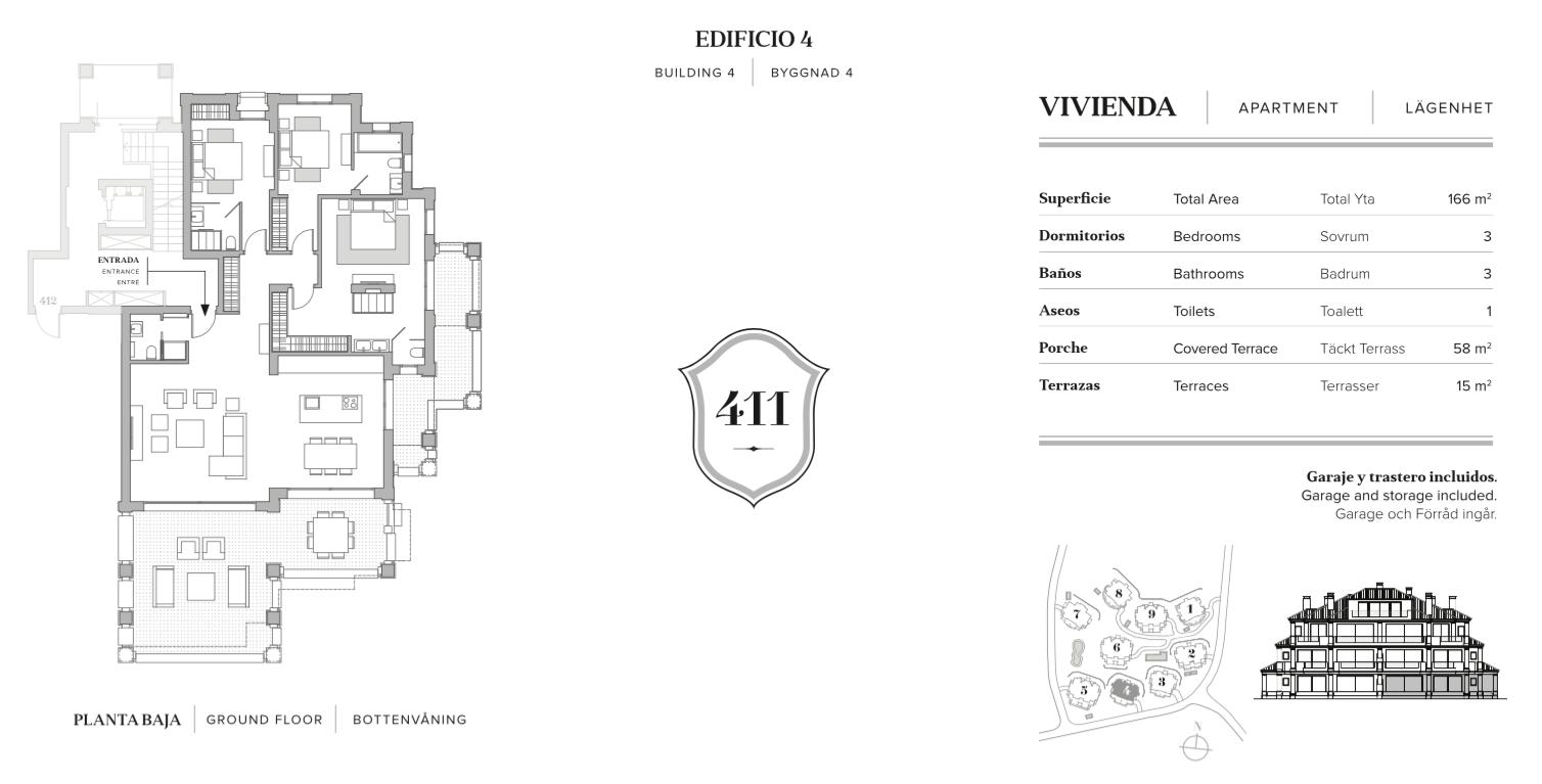nine lions residences appartementen penthouses te koop nueva andalucia grondplan 3 slaapkamers