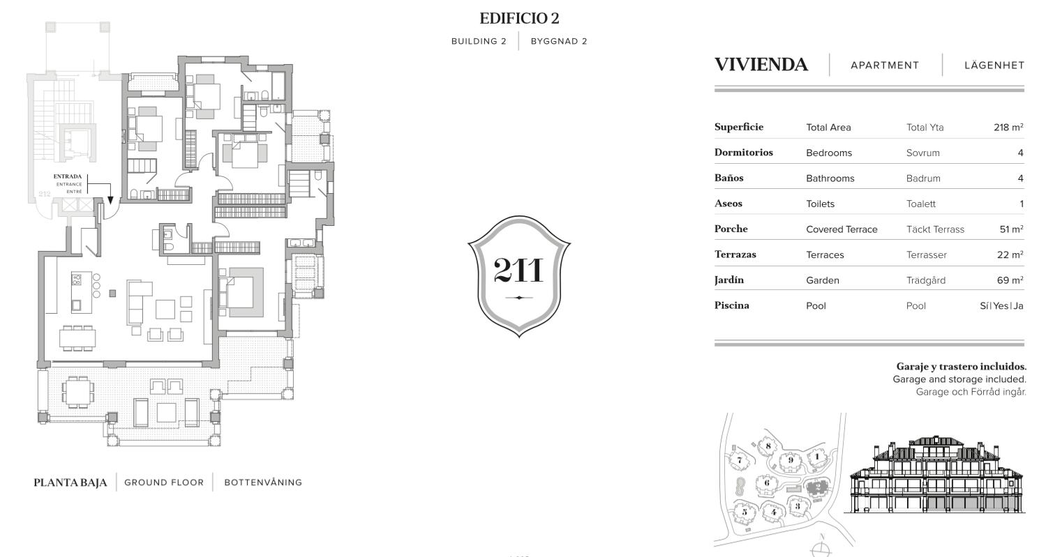 nine lions residences appartementen penthouses te koop nueva andalucia grondplan 4 slaapkamers