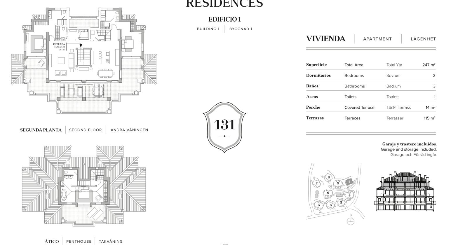 nine lions residences appartementen penthouses te koop nueva andalucia grondplan penthouse 3 slaapkamers