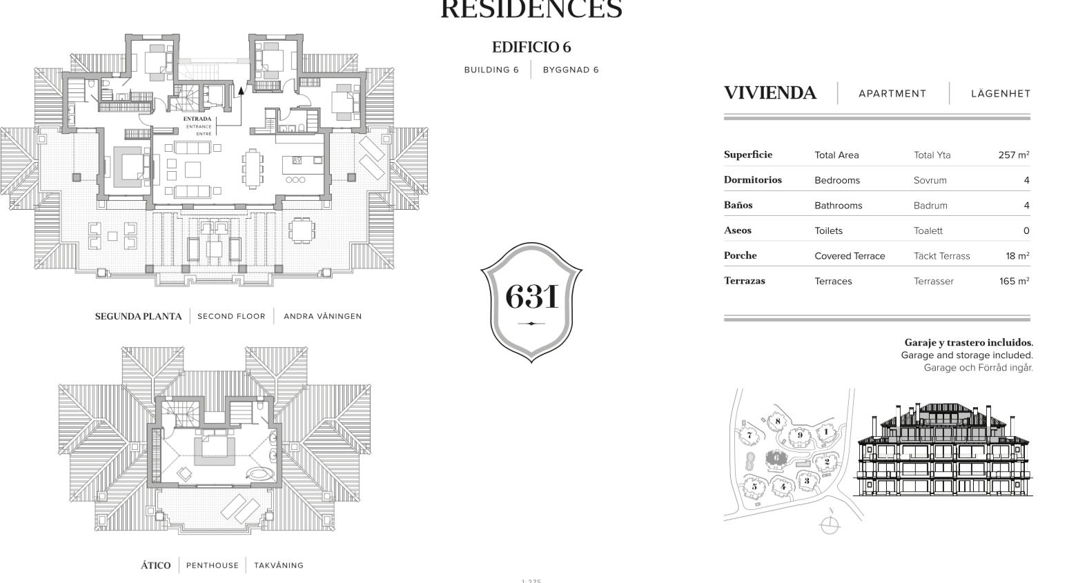 nine lions residences appartementen penthouses te koop nueva andalucia grondplan penthouse 5 slaapkamers