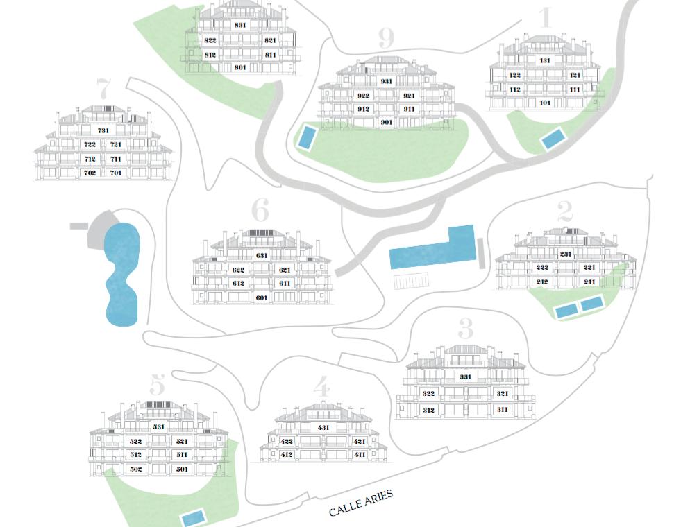 nine lions residences appartementen penthouses te koop nueva andalucia masterplan