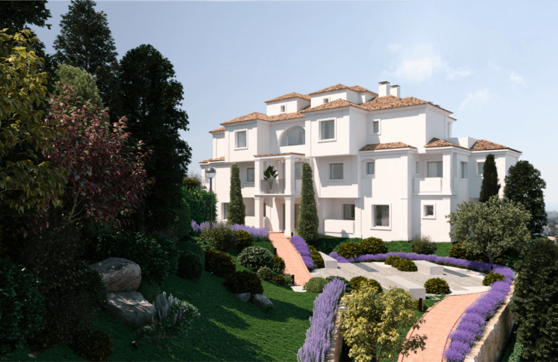 nine lions residences appartementen penthouses te koop nueva andalucia tuinen