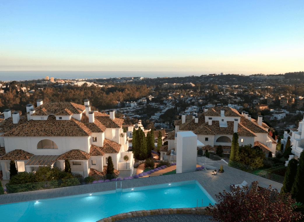 nine lions residences appartementen penthouses te koop nueva andalucia zichten