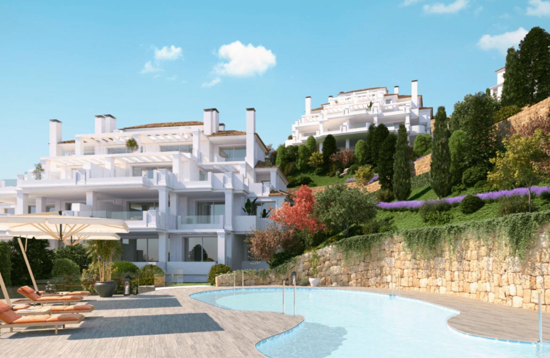 nine lions residences appartementen penthouses te koop nueva andalucia zwembad