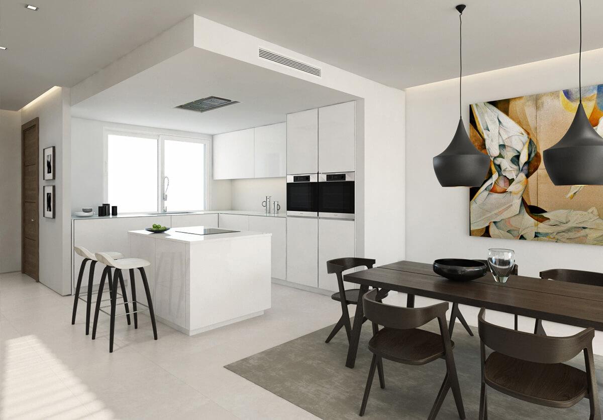 Keuken Plattegrond Open : Riva residences: moderne half open golf huizen aan hole 8 cabopino