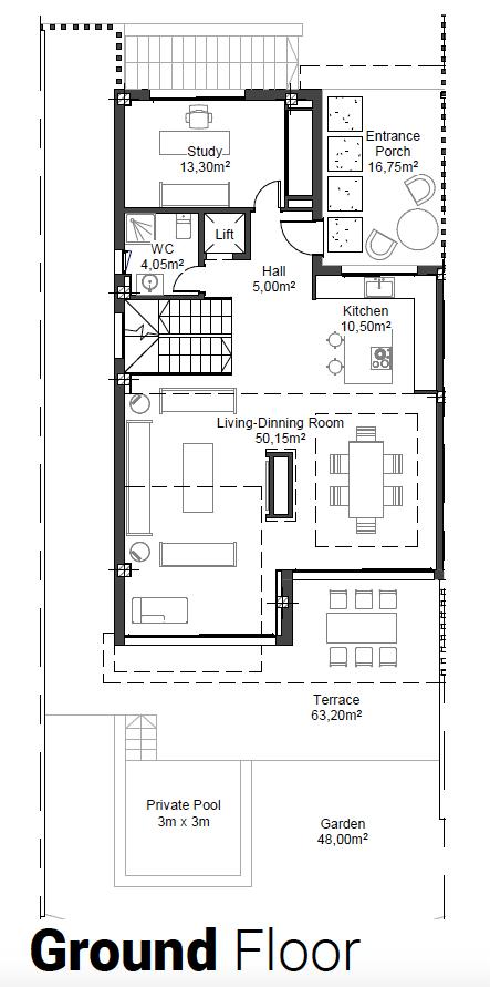 riva residences artola cabopino villa kopen grondplan gelijkvloers 5