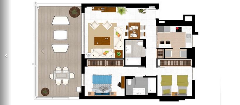 jade beach 3112786 taylor wimpey san pedro modern gelijkvloers appartement te koop grondplan