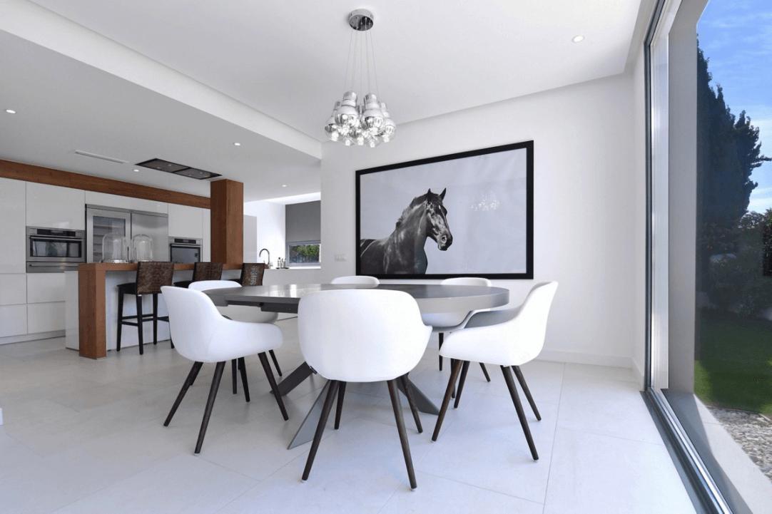 luxe moderne villa golden mile marbella kopen eethoek
