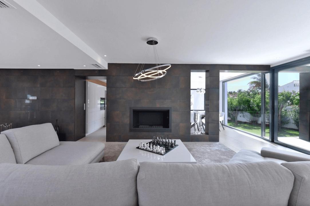 luxe moderne villa golden mile marbella kopen salon