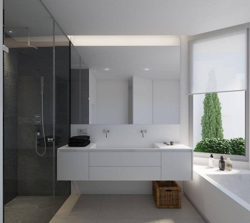 unico benahavis modern nieuwbouw appartement te koop zeezicht badkamer