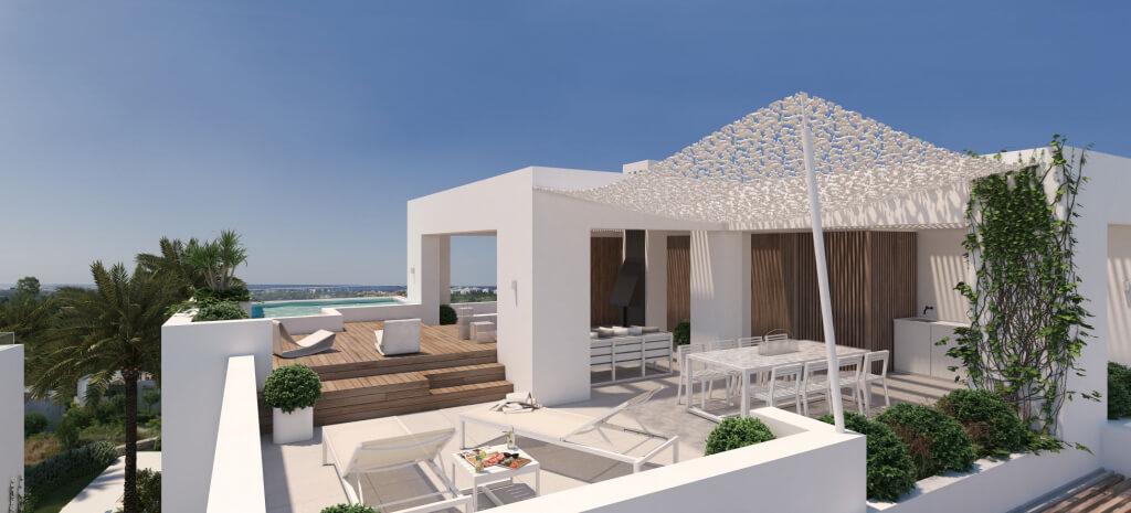 unico benahavis modern nieuwbouw appartement te koop zeezicht dakterras