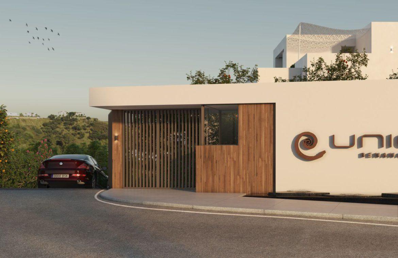 unico benahavis modern nieuwbouw appartement te koop zeezicht entree