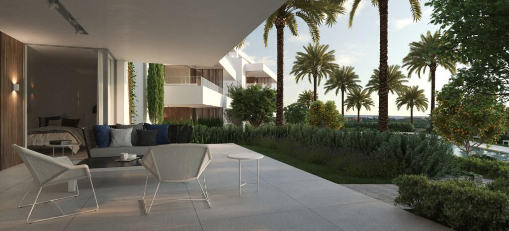 unico benahavis modern nieuwbouw appartement te koop zeezicht terrassen