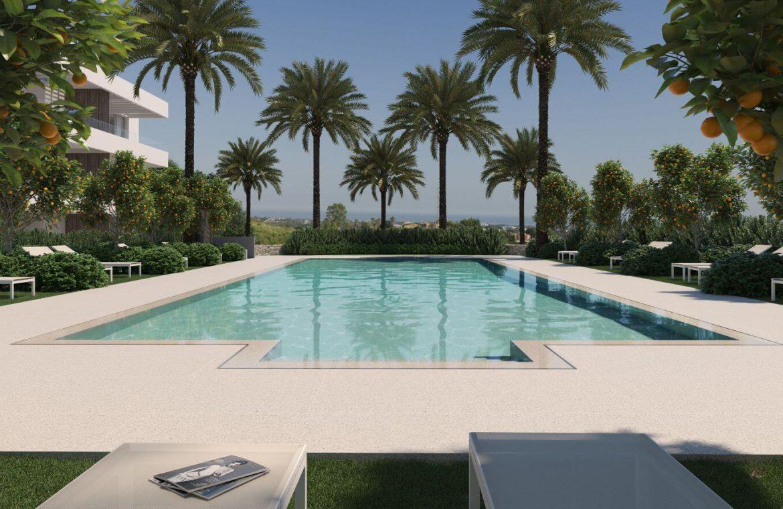 unico benahavis modern nieuwbouw appartement te koop zeezicht zwembad
