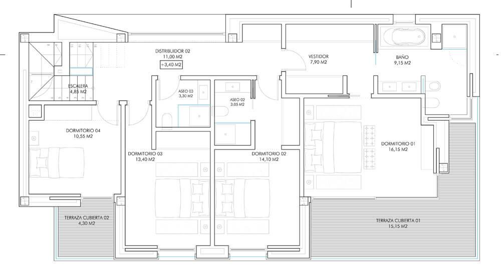 vistagolf villa te koop estepona el campanario new golden mile grondplan verdieping