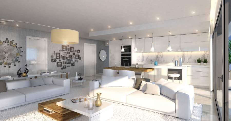 agora selwo new golden mile nieuwbouw modern appartement penthouse te koop rustig natuur keuken
