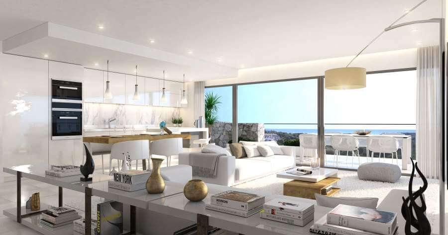 agora selwo new golden mile nieuwbouw modern appartement penthouse te koop rustig natuur living