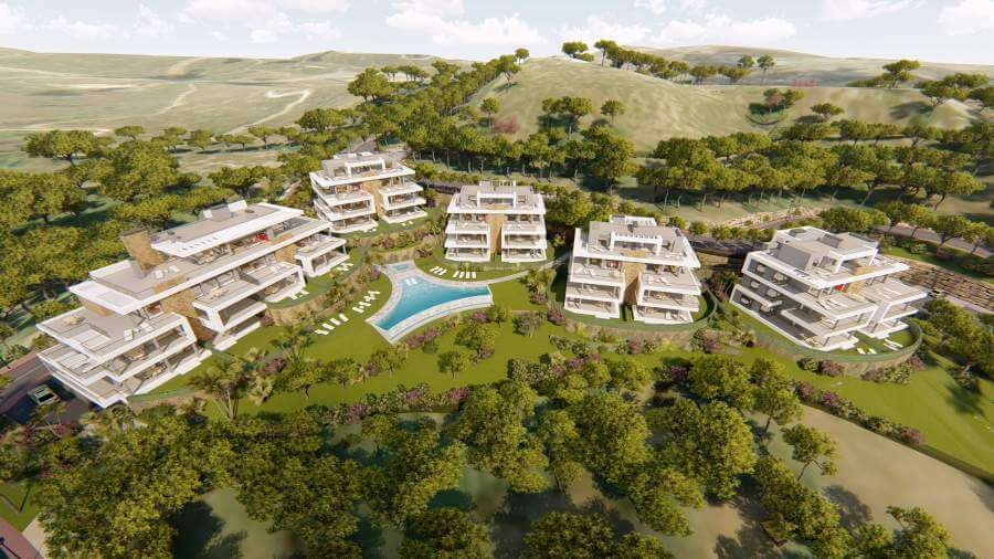 agora selwo new golden mile nieuwbouw modern appartement penthouse te koop rustig natuur masterplan