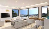 agora selwo new golden mile nieuwbouw modern appartement penthouse te koop rustig natuur salon penthouse