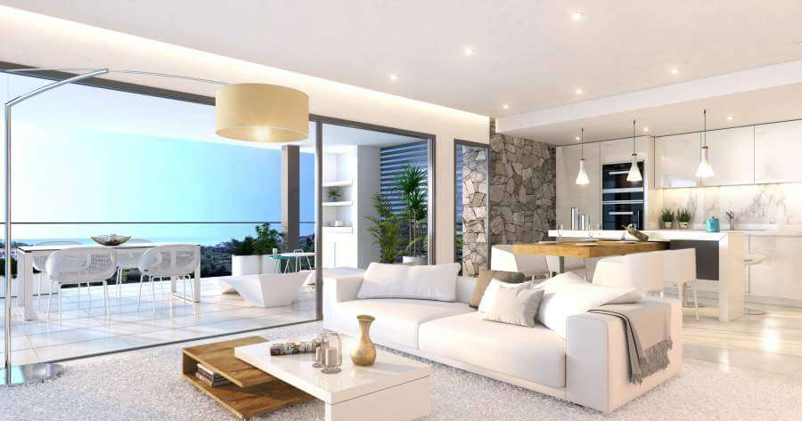agora selwo new golden mile nieuwbouw modern appartement penthouse te koop rustig natuur salon