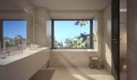 anamaya luxe nieuwbouw villas te koop nueva andalucia zeezicht golf bergen badkamer