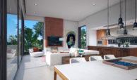 anamaya luxe nieuwbouw villas te koop nueva andalucia zeezicht golf bergen eetkamer