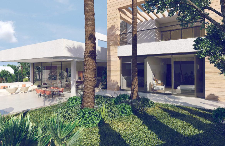 anamaya luxe nieuwbouw villas te koop nueva andalucia zeezicht golf bergen gevel
