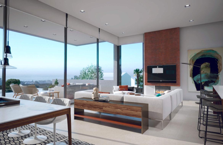 anamaya luxe nieuwbouw villas te koop nueva andalucia zeezicht golf bergen living