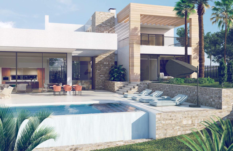 anamaya luxe nieuwbouw villas te koop nueva andalucia zeezicht golf bergen tuinen