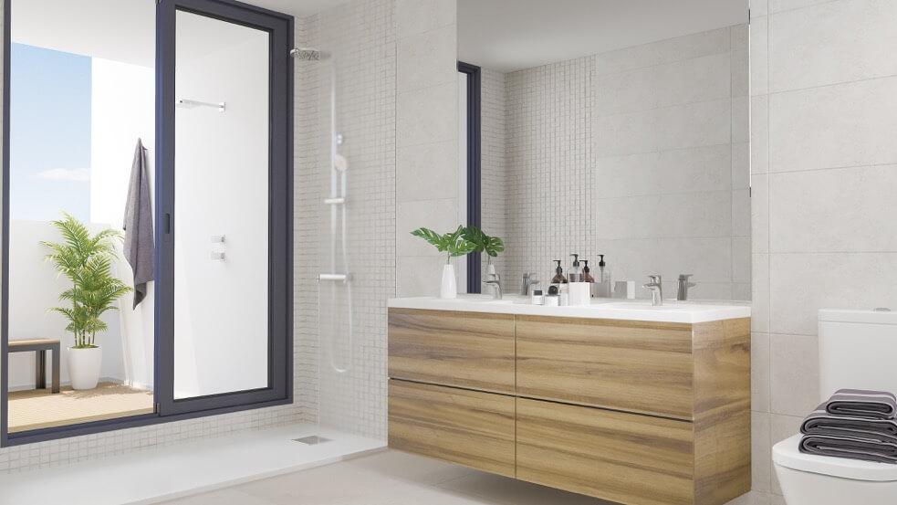 fairways la cala golf appartementen penthouses eerstelijns golf nieuwbouw badkamer