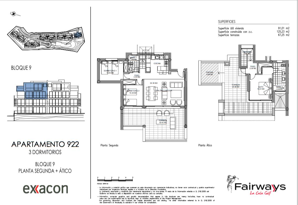 fairways la cala golf appartementen penthouses eerstelijns golf nieuwbouw grondplan penthouse duplex 3 slaapkamers