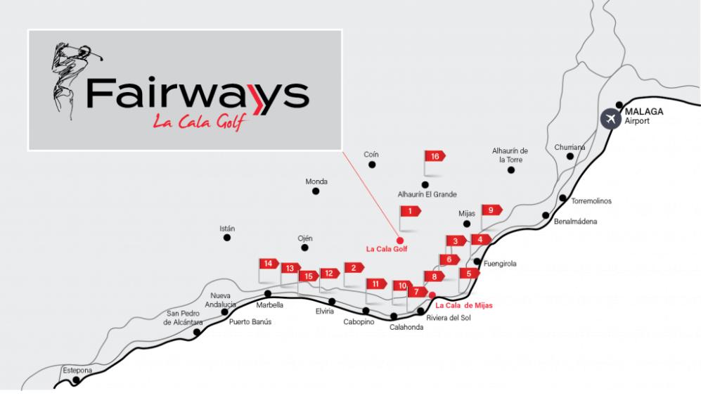 fairways la cala golf appartementen penthouses eerstelijns golf nieuwbouw locatie