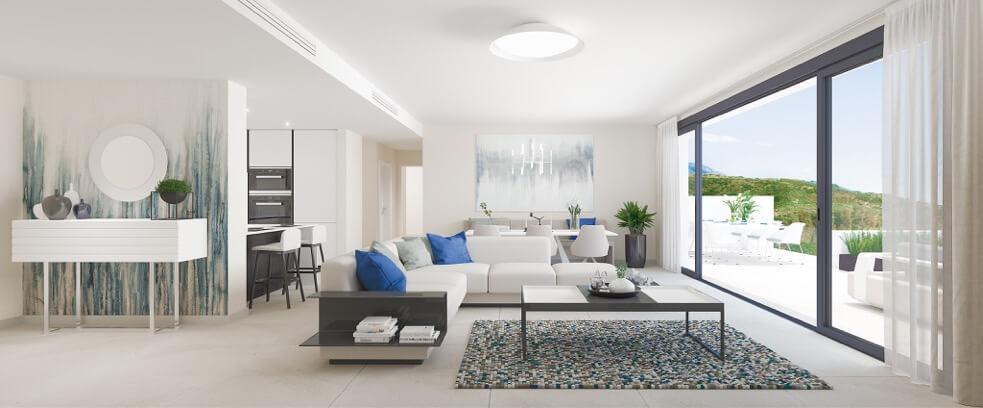 fairways la cala golf appartementen penthouses eerstelijns golf nieuwbouw salon
