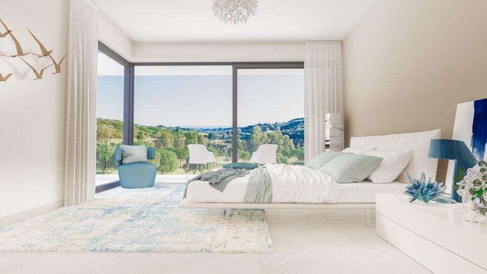 fairways la cala golf appartementen penthouses eerstelijns golf nieuwbouw slaapkamer