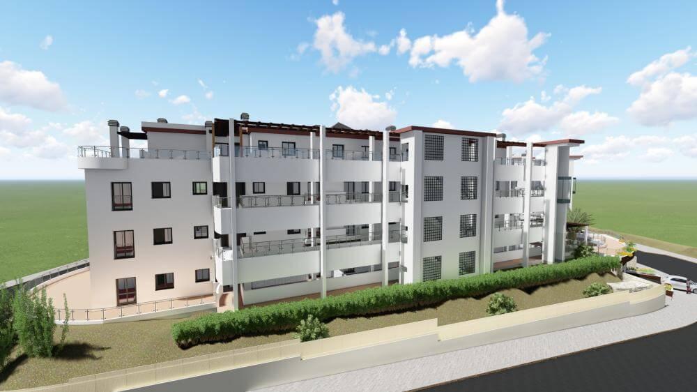 pinares de mijas appartementen nieuwbouw te koop achterkant