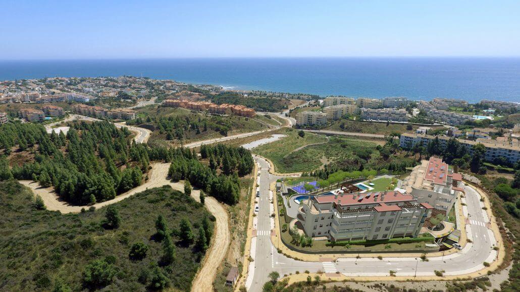 pinares de mijas appartementen nieuwbouw te koop luchtfoto