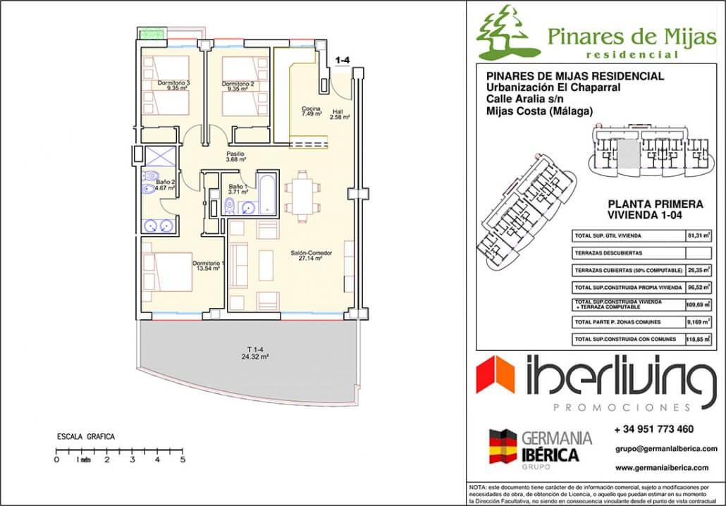 pinares de mijas nieuwbouw kopen grondplan gelijkvloers 1