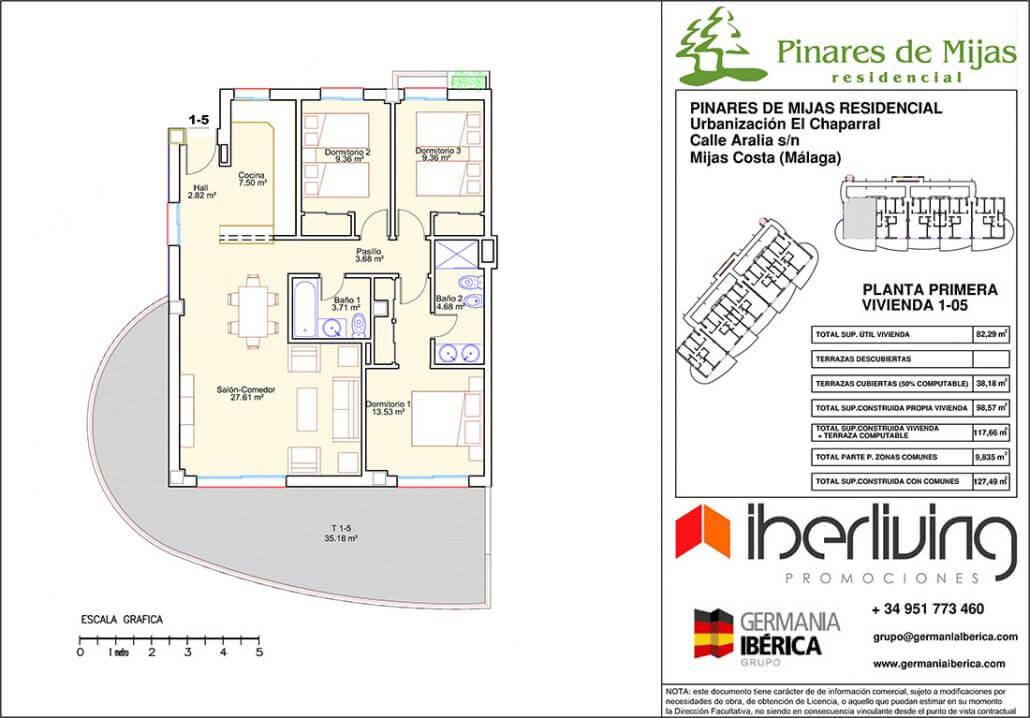 pinares de mijas nieuwbouw kopen grondplan gelijkvloers 2