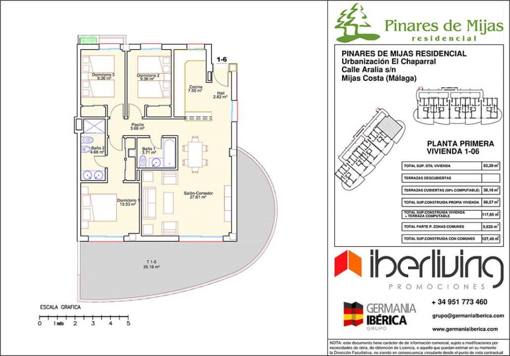 pinares de mijas nieuwbouw kopen grondplan gelijkvloers 3