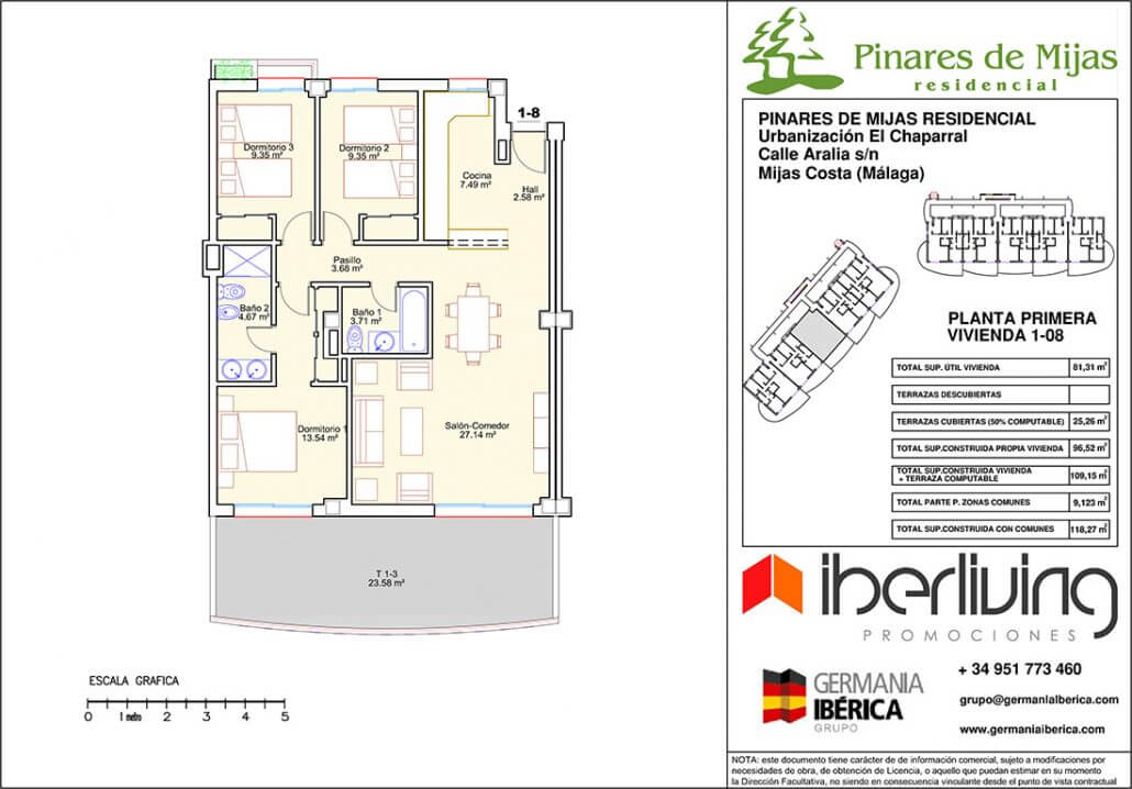 pinares de mijas nieuwbouw kopen grondplan gelijkvloers 4