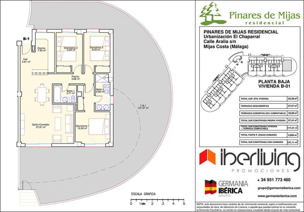 pinares de mijas nieuwbouw kopen grondplan gelijkvloers 5