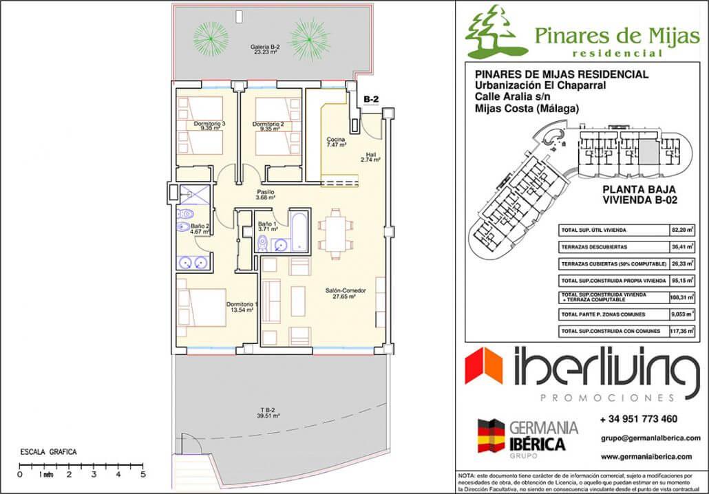pinares de mijas nieuwbouw kopen grondplan gelijkvloers 6