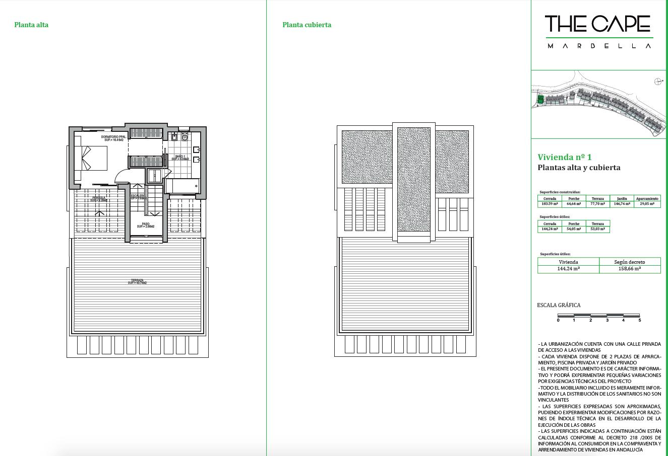 the cape cabopino grondplan huis dakterras