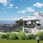 the cape cabopino nieuwbouw modern huis kopen eerstelijns golf gevel geschakelde woning